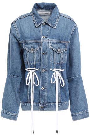 PROENZA SCHOULER PSWL Bow-embellished denim jacket