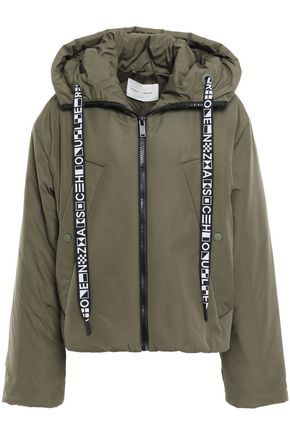 PROENZA SCHOULER PSWL Embroider-trimmed shell hooded down jacket