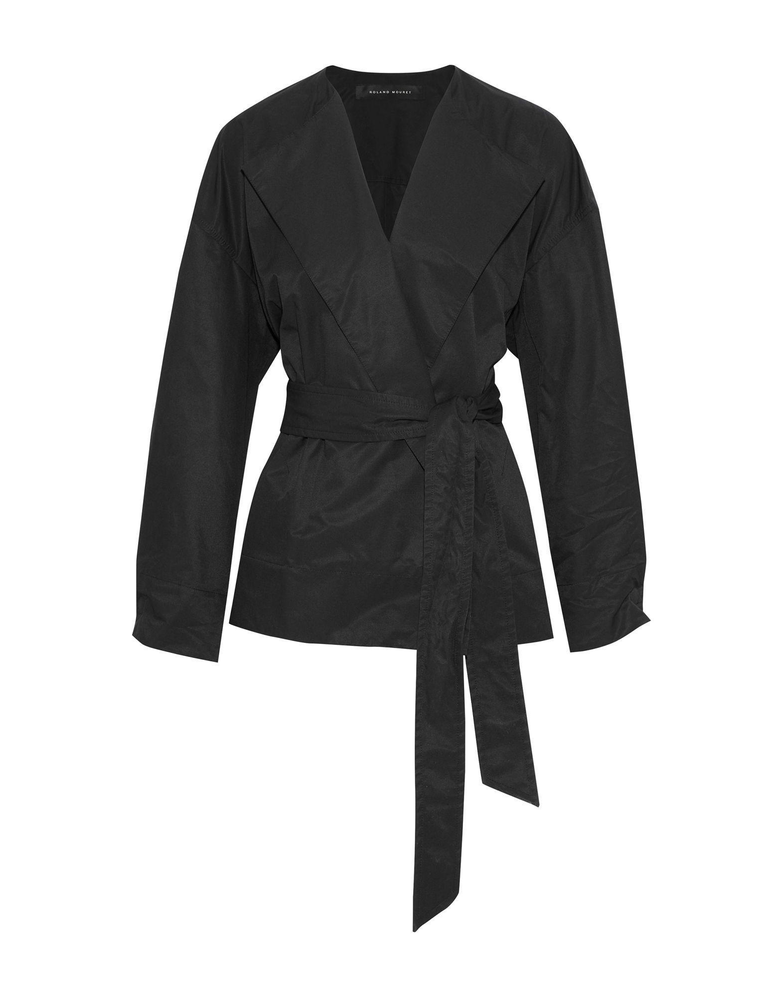 《セール開催中》ROLAND MOURET レディース テーラードジャケット ブラック S コットン 56% / ナイロン 44%