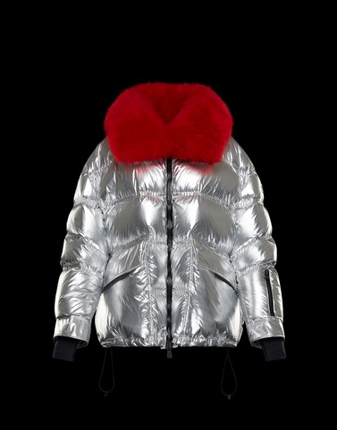 ATENA Silver Short Down Jackets Woman
