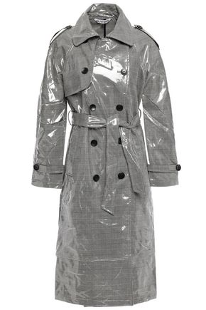 WALTER BAKER Willia coated Prince of Wales checked  woven trench coat