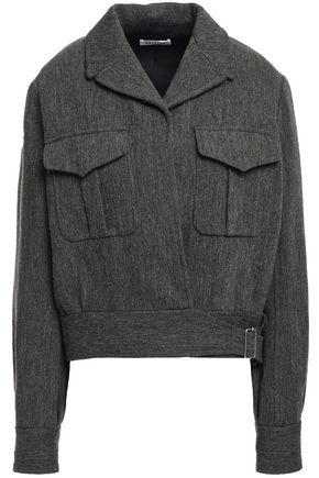 MASSCOB Doyle buckled herringbone wool and linen-blend jacket
