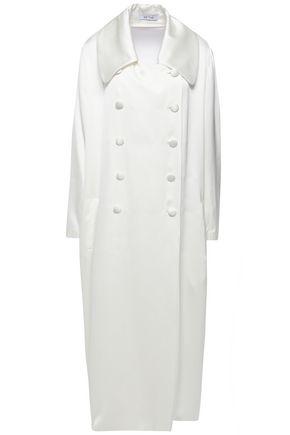 DEITAS Nadia double-breasted satin coat