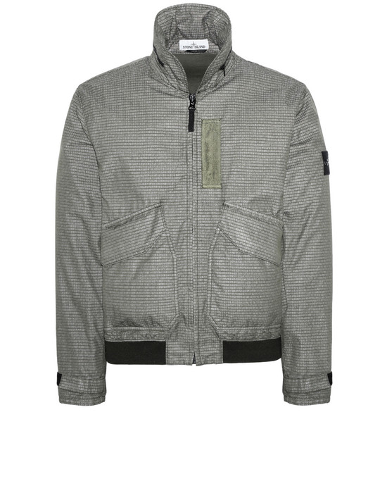 STONE ISLAND 43699 REFLECTIVE WEAVE RIPSTOP-TC Jacket Man Olive Green