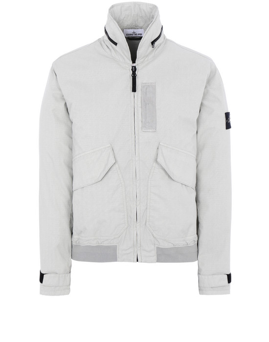 STONE ISLAND 43699 REFLECTIVE WEAVE RIPSTOP-TC Jacket Man Dust Grey