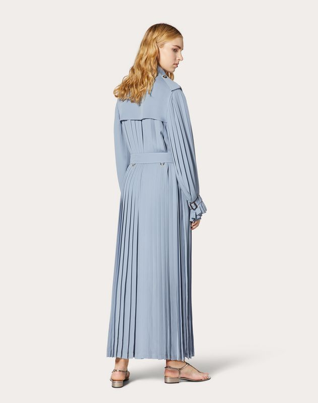 Pleated Georgette Trench