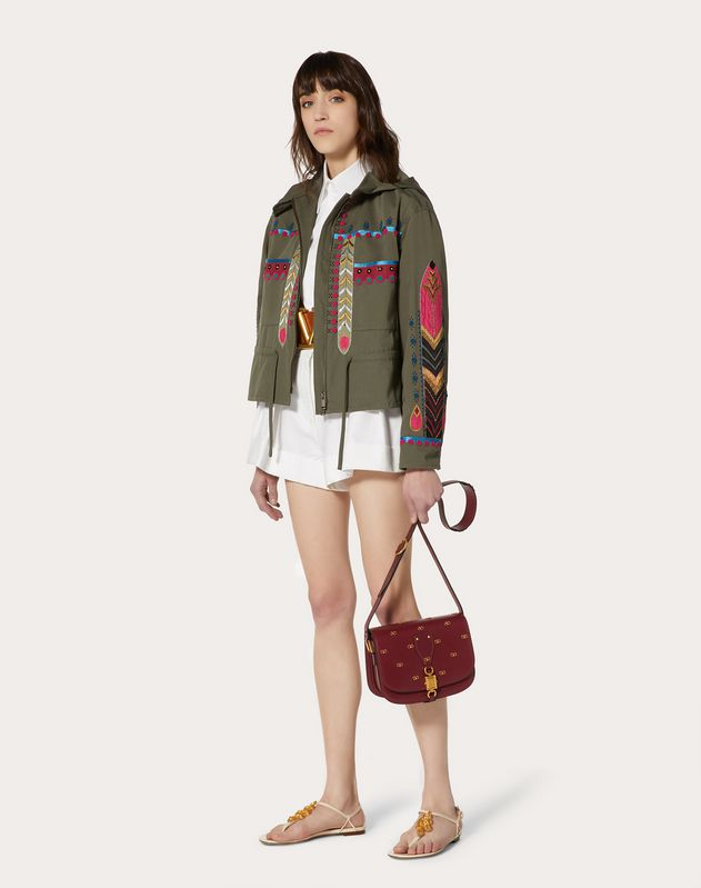 Embroidered Gabardine Jacket