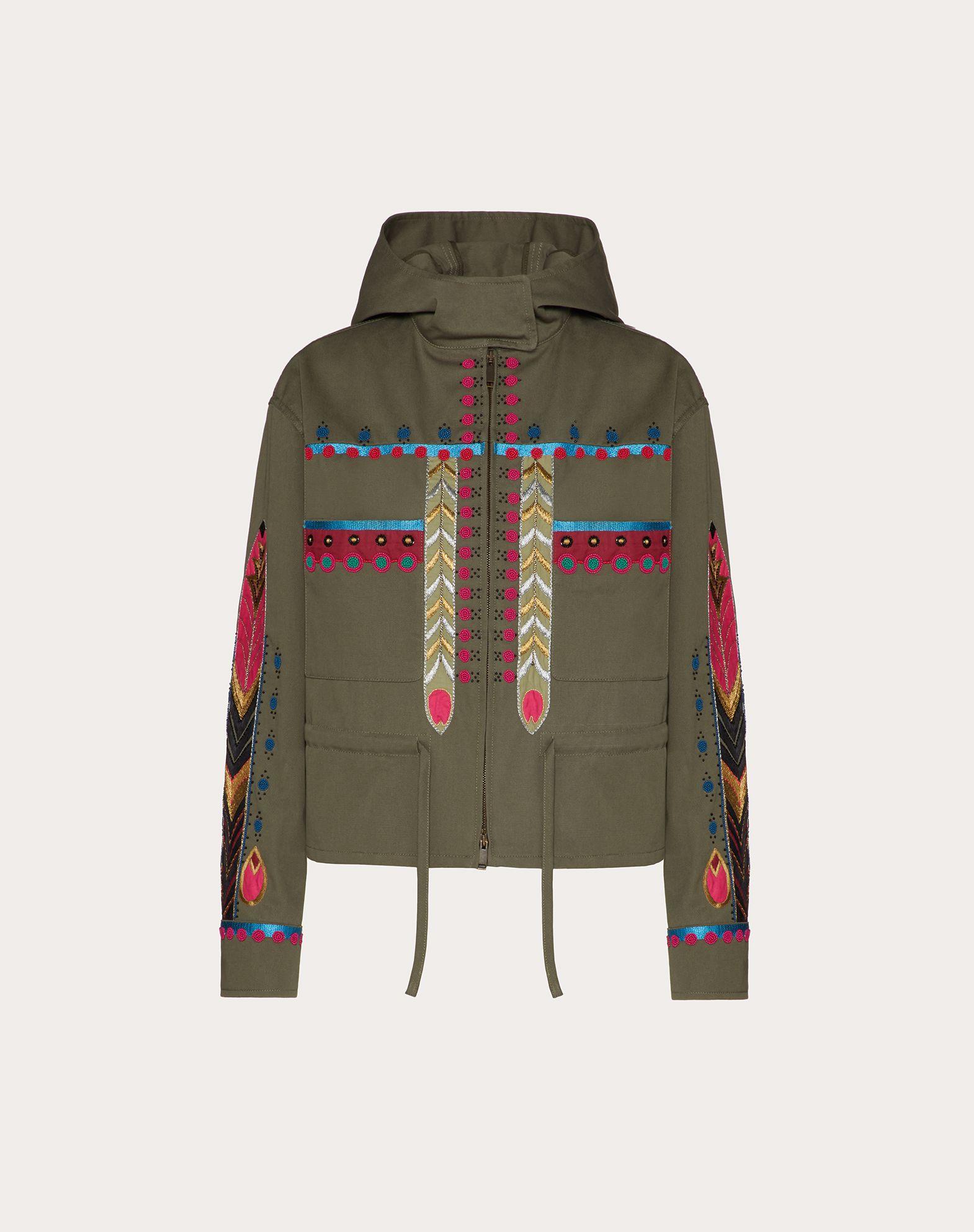 Embroidered Gabardine Jacket