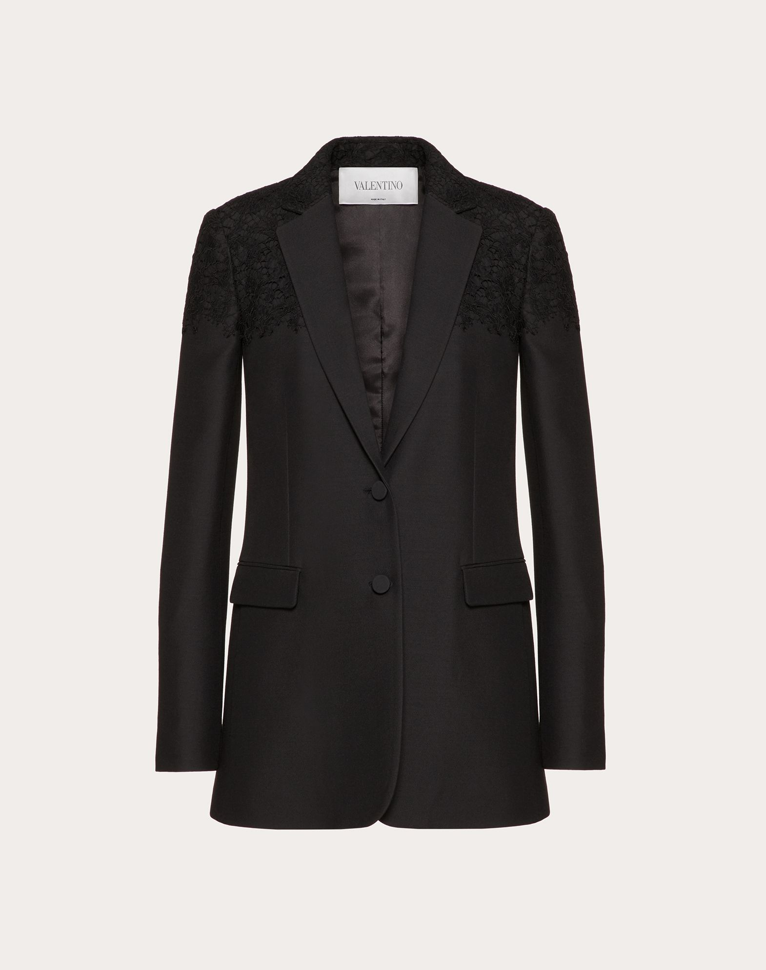 Crepe Couture and Heavy Lace Jacket