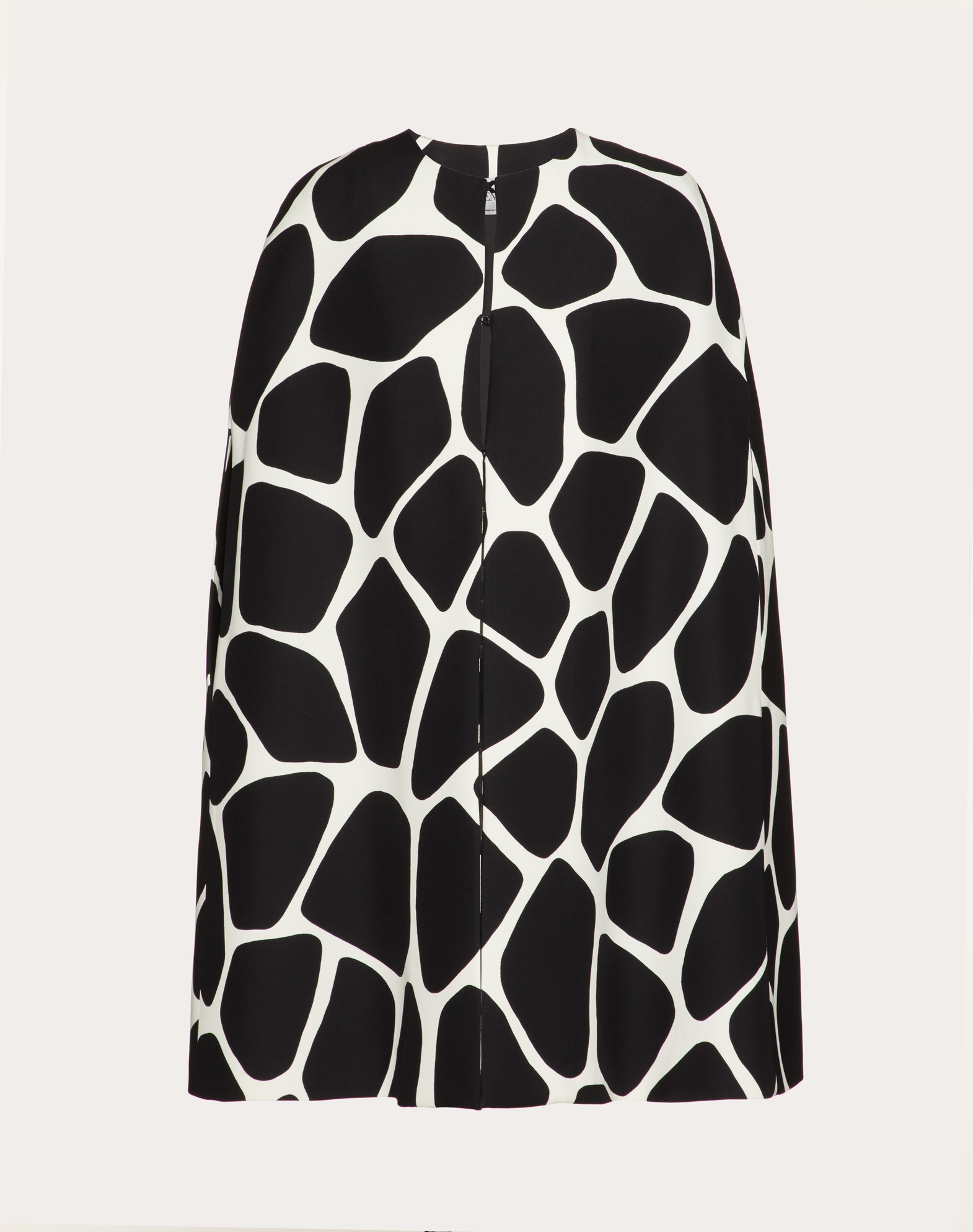 Printed Crepe Couture Cape