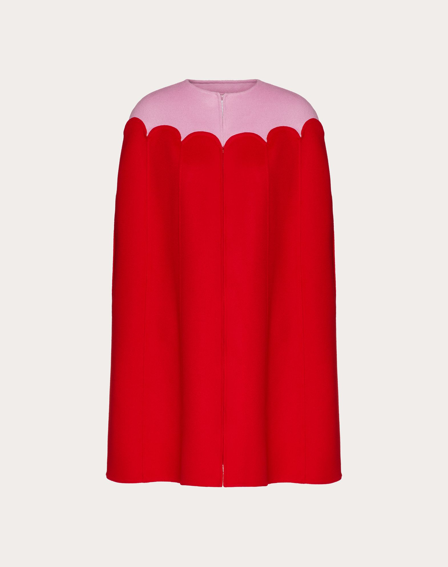 Two-Tone Compact Wool Cape