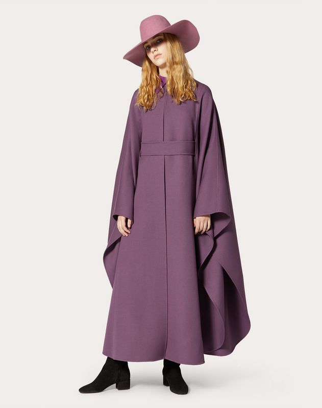 Belted Wool Cape