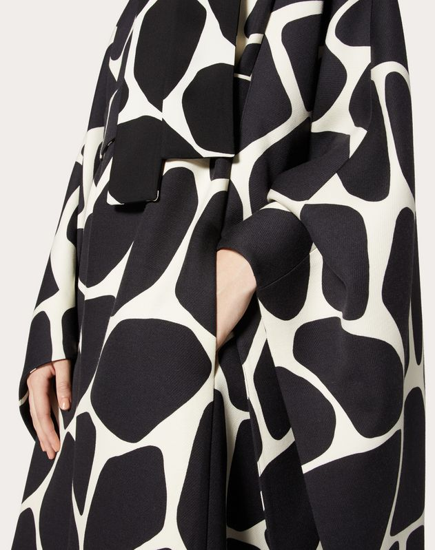 Printed Double Wool Cape