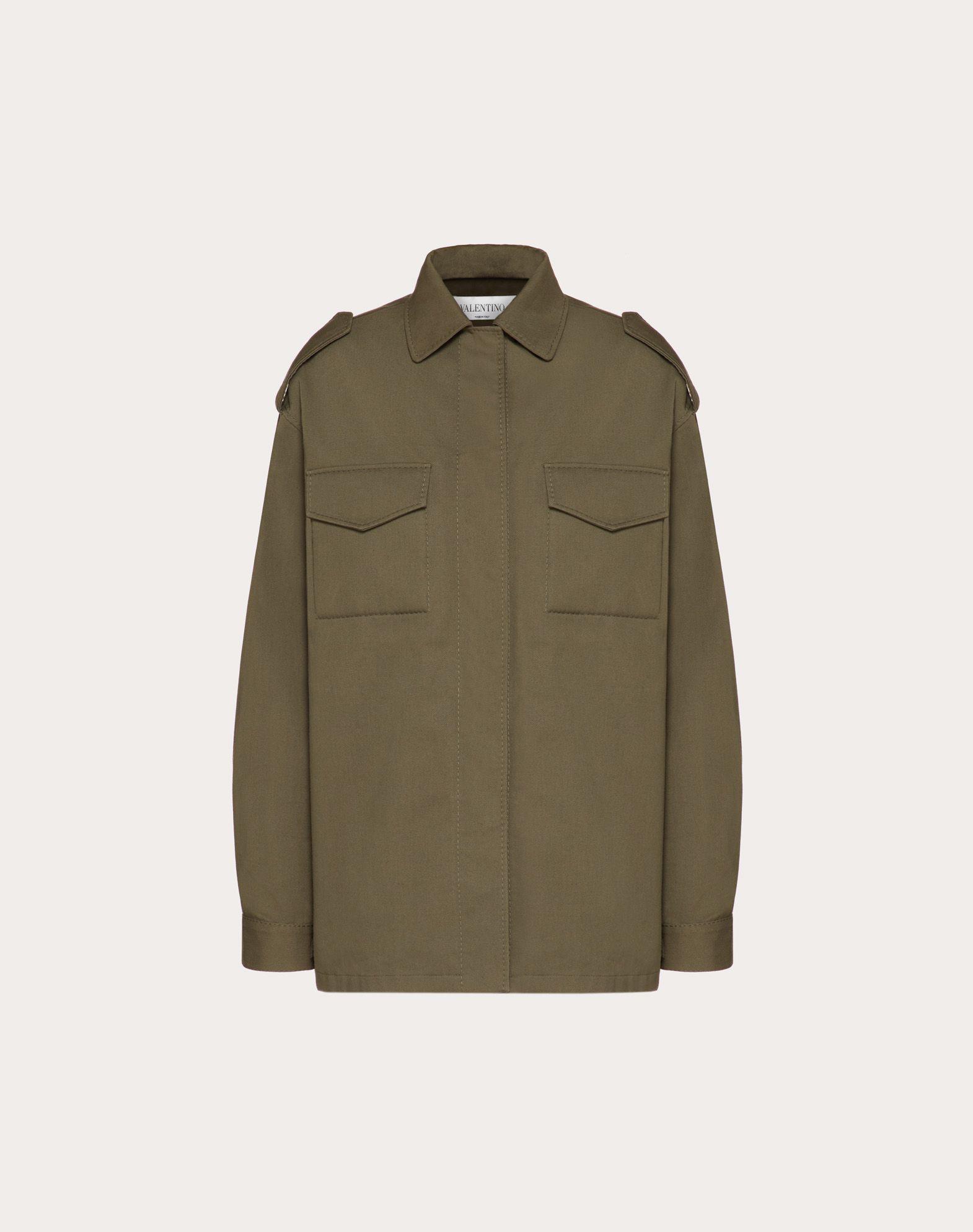 VLOGO Intarsia Gabardine Pea Coat