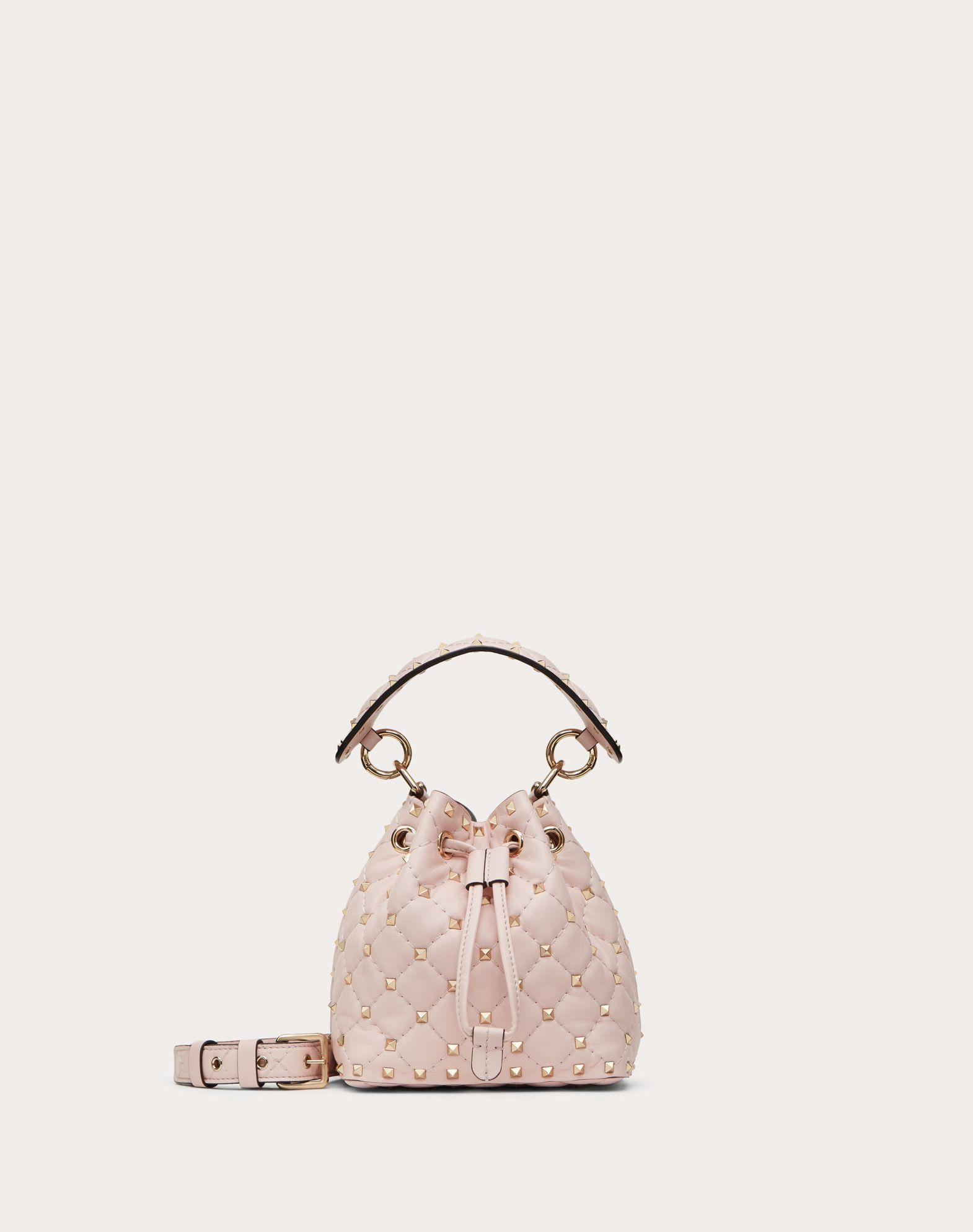 Mini Rockstud Spike Nappa Bucket Bag