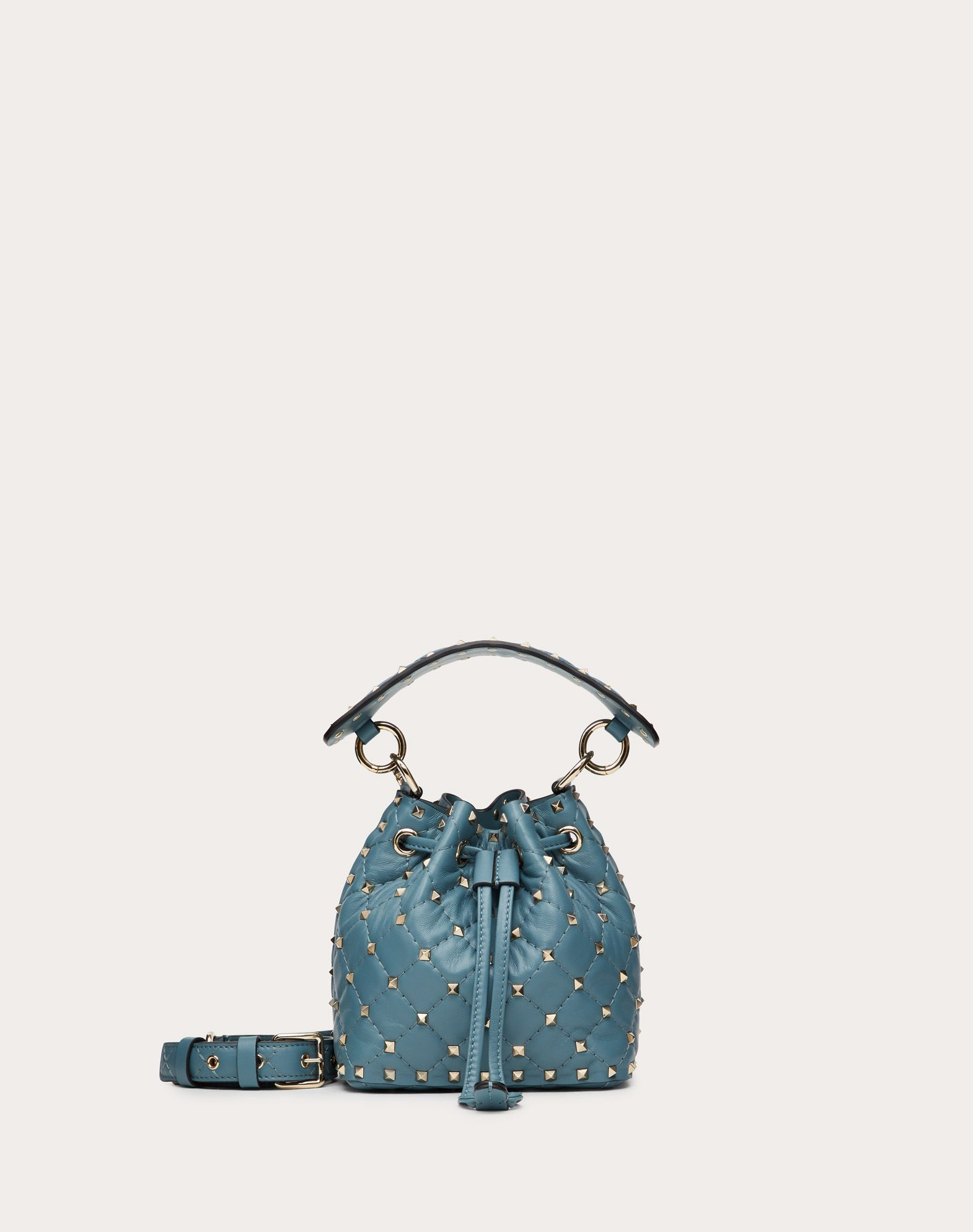 Mini Rockstud Spike Nappa Bucket Bag