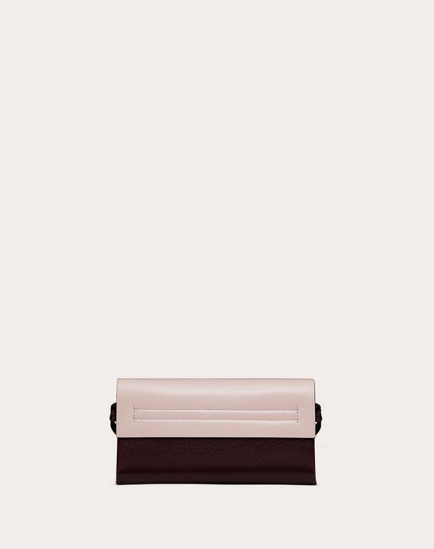 Crossbody Bag VRING aus glänzendem Kalbsleder und mehrfarbigem Büffelleder