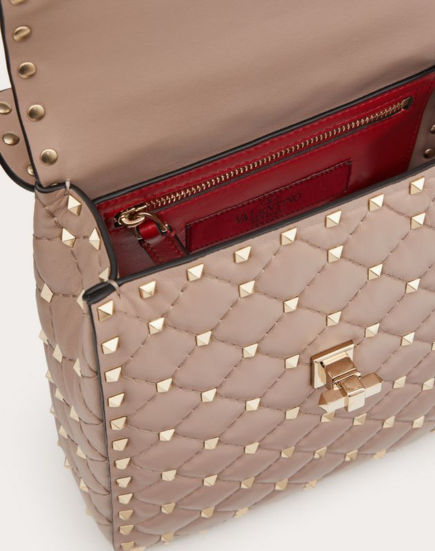 Medium Rockstud Spike Nappa Leather Vertical Bag