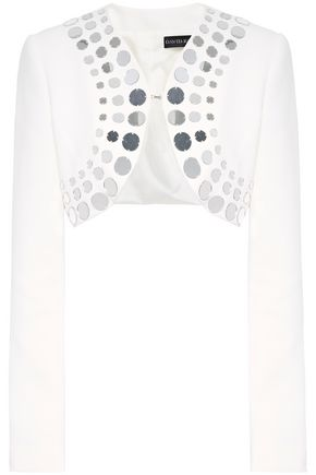 DAVID KOMA クロップド ミラー加工装飾付き キャディ ジャケット