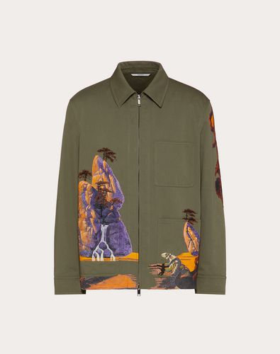 YELLOW CITY EMBROIDERED SAFARI JACKET