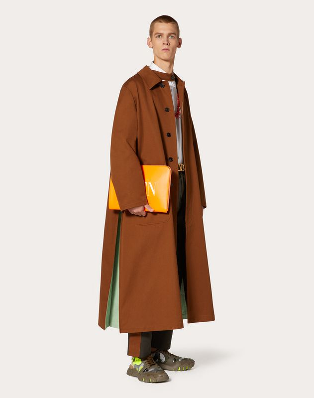 LONG TWO-TONE COAT