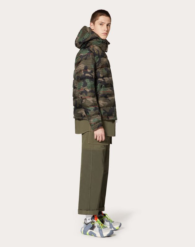 CAMOULOVE HOODED PUFFER COAT