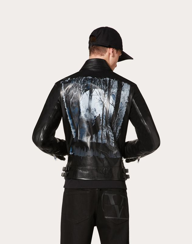 BLOUSON NIGHTWOLF AUS LEDER