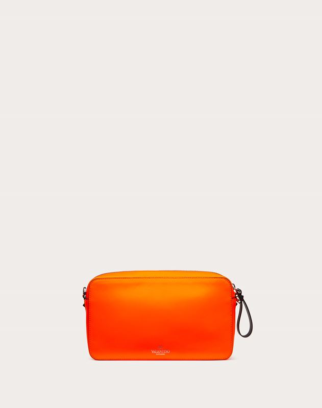 VLTN Fluorescent Leather Crossbody Bag