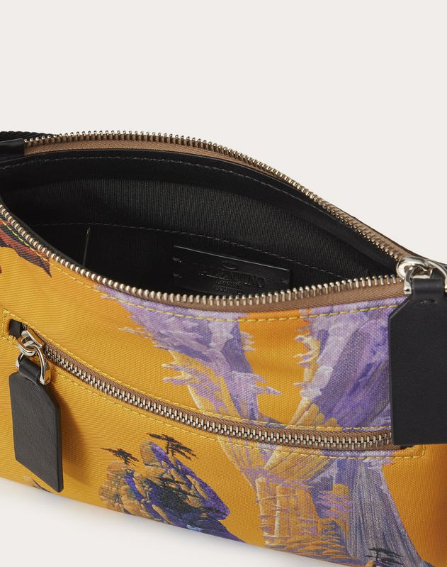 Yellow City Nylon Crossbody Bag