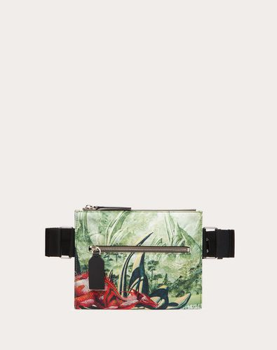 Red Dragon Nylon Crossbody Bag