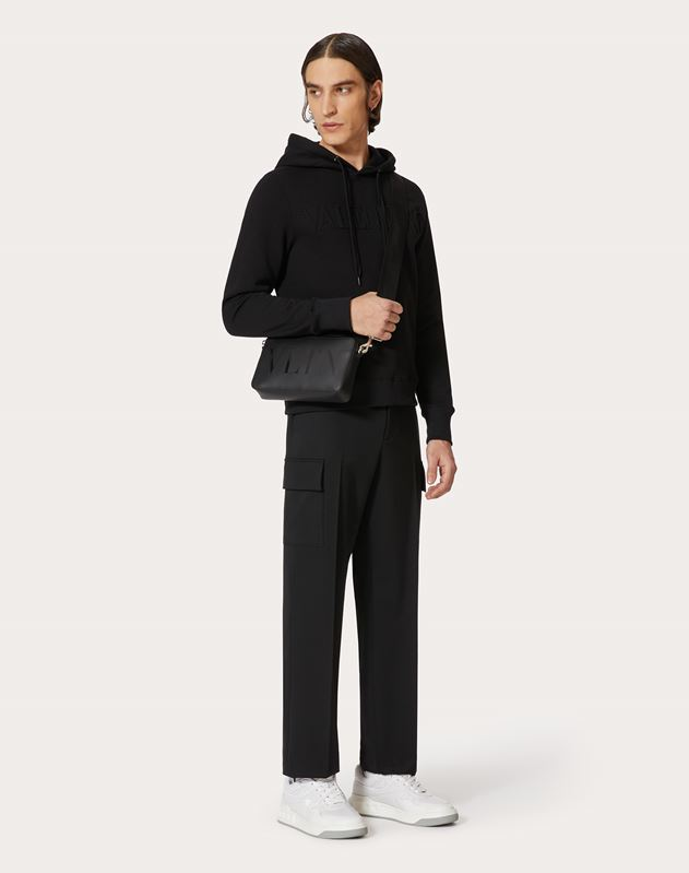 VLTN Leather Crossbody Bag