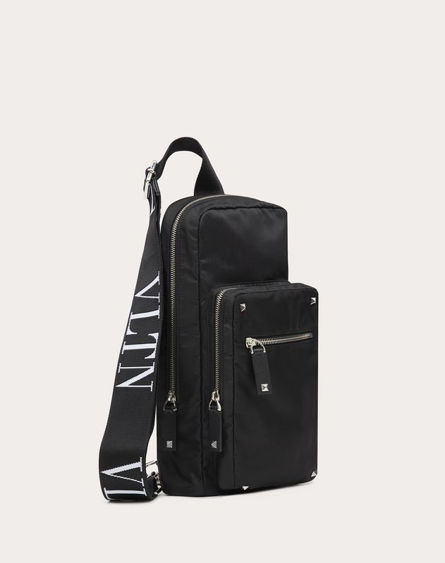 Nylon Crossbody Bag with VLTN Straps