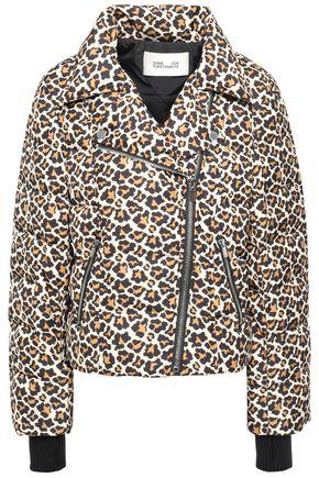 DIANE VON FURSTENBERG Leopard-print quilted shell down jacket