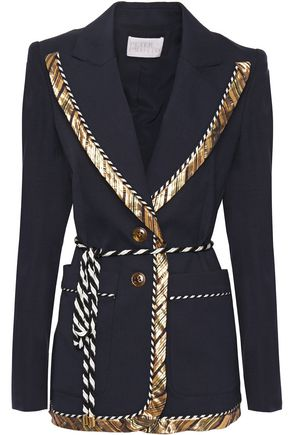 PETER PILOTTO Belted stretch-crepe blazer