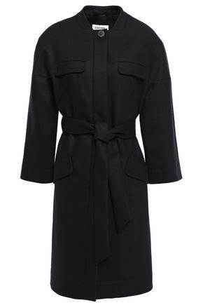 CEFINN Belted brushed wool-blend coat