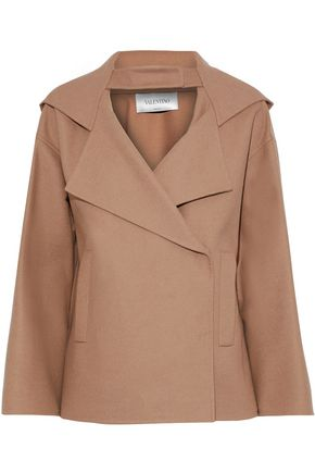 VALENTINO Wool-blend twill hooded jacket