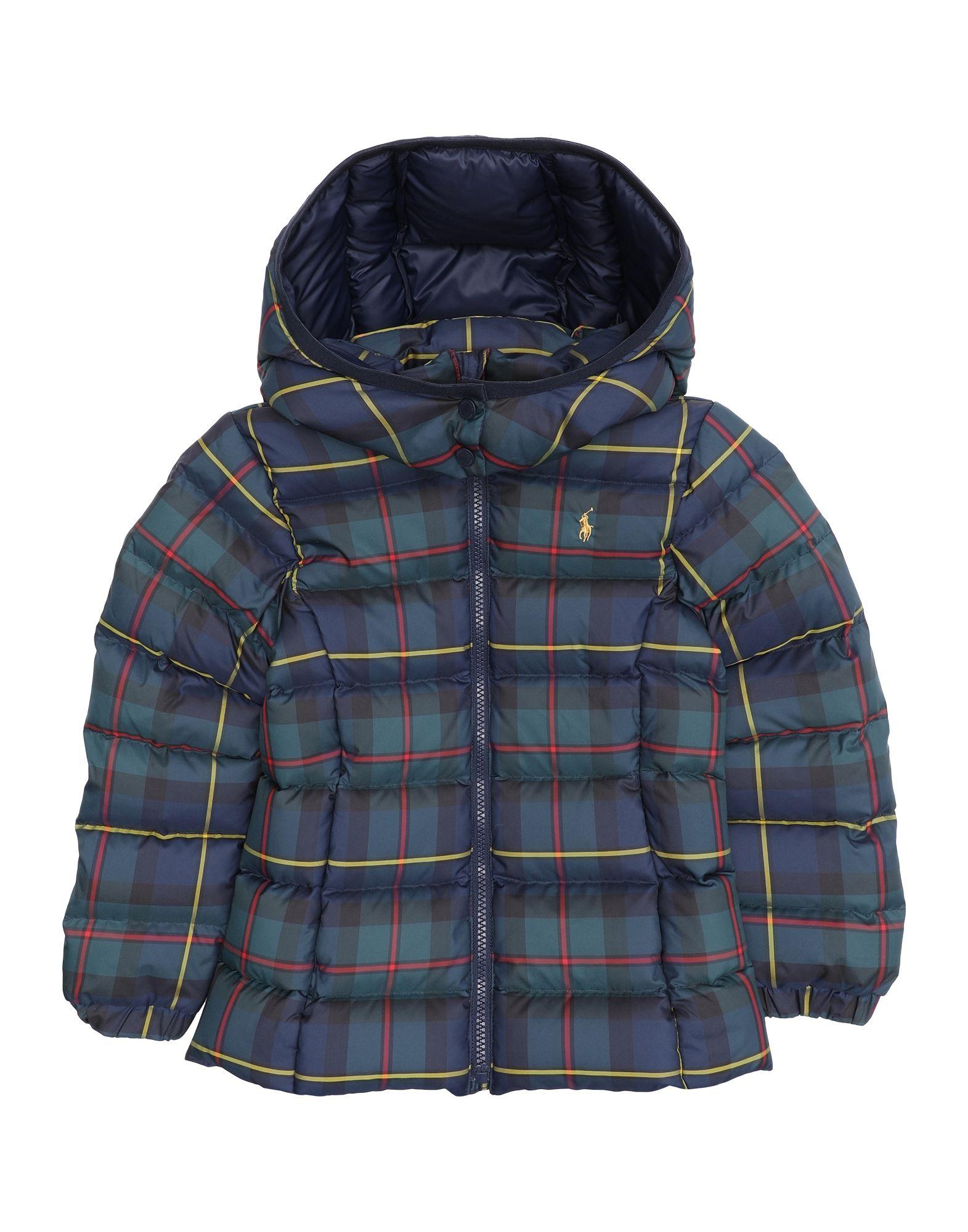 《セール開催中》RALPH LAUREN ガールズ 3-8 歳 ダウンジャケット ダークブルー 5 ポリエステル 100% Tartan Down Jacket