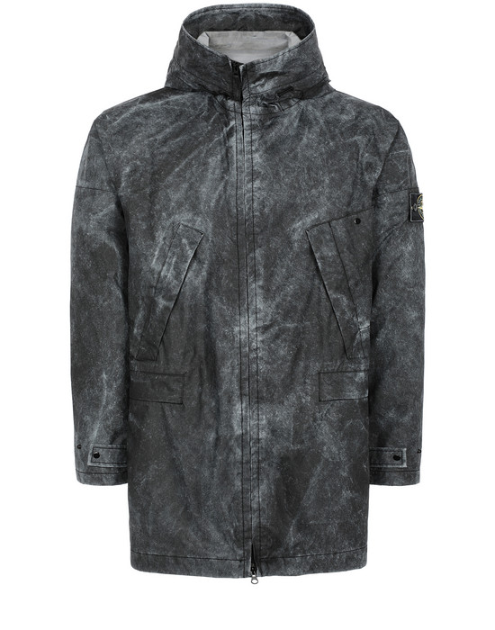 STONE ISLAND 70124 MEMBRANA 3L WITH DUST COLOUR FINISH Mid-length jacket Man