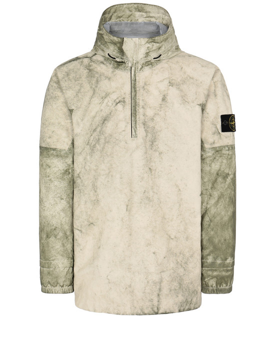 Jacket Man 41628 MEMBRANA + OXFORD 3L WITH DUST COLOUR FINISH Front STONE ISLAND