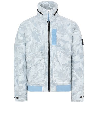 STONE ISLAND 445E1 BIG LOOM CAMO-TC Jacket Man Sky Blue EUR 815