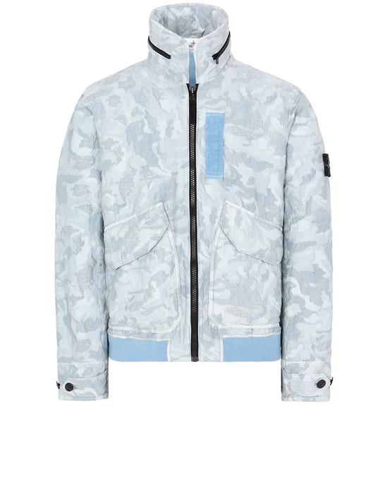 STONE ISLAND 445E1 BIG LOOM CAMO-TC Jacket Man Pale Blue
