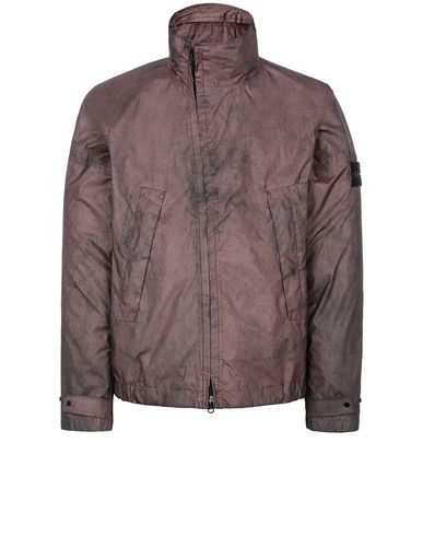 STONE ISLAND 41524 MEMBRANA 3L WITH DUST COLOUR FINISH Blouson Homme MARRON ACAJOU EUR 794