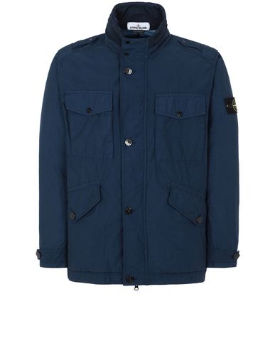 STONE ISLAND 43532 NASLAN LIGHT WATRO Jacket Man Marine Blue USD 885