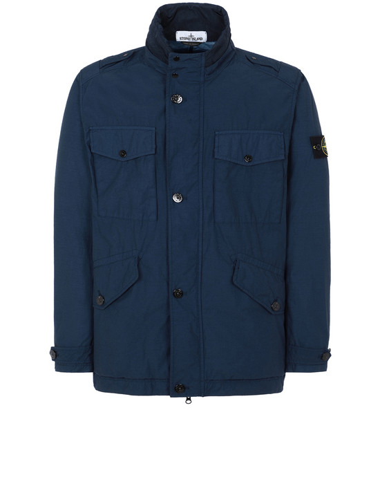 STONE ISLAND 43532 NASLAN LIGHT WATRO Jacket Man Marine Blue