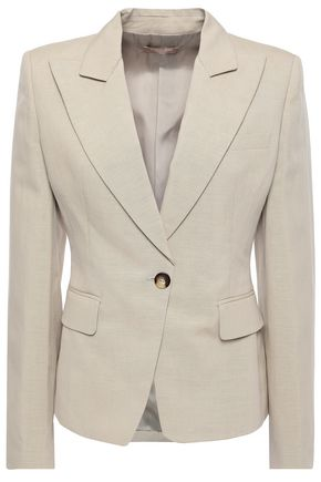 MICHAEL KORS COLLECTION Linen and silk-blend blazer
