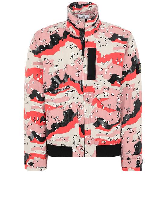 STONE ISLAND 445E3 3C + PU DESERT CAMO Jacket Man Stucco