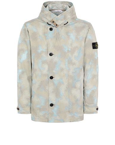 STONE ISLAND 420E2 CAMO DÉVORÉ WATRO-TC Jacket Man Dove Gray EUR 680