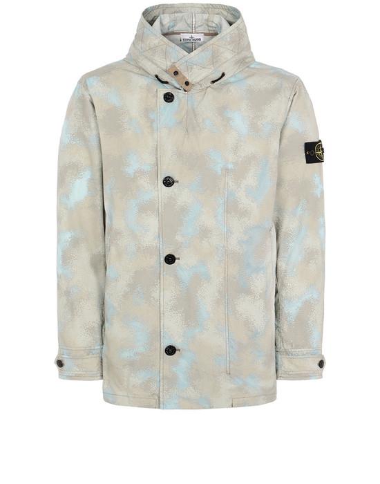 STONE ISLAND 420E2 CAMO DÉVORÉ WATRO-TC Jacket Man Dove Grey