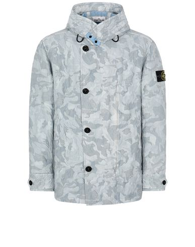 STONE ISLAND 420E1 BIG LOOM CAMO-TC Jacket Man Baby Blue EUR 890