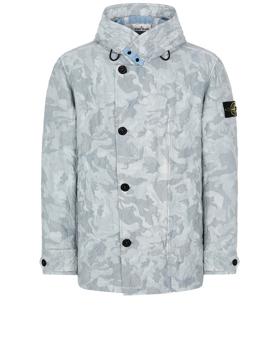 STONE ISLAND 420E1 BIG LOOM CAMO-TC Jacket Man Sky Blue
